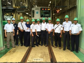 at the time of Running Test at Tokyo Metro Ayase Depot